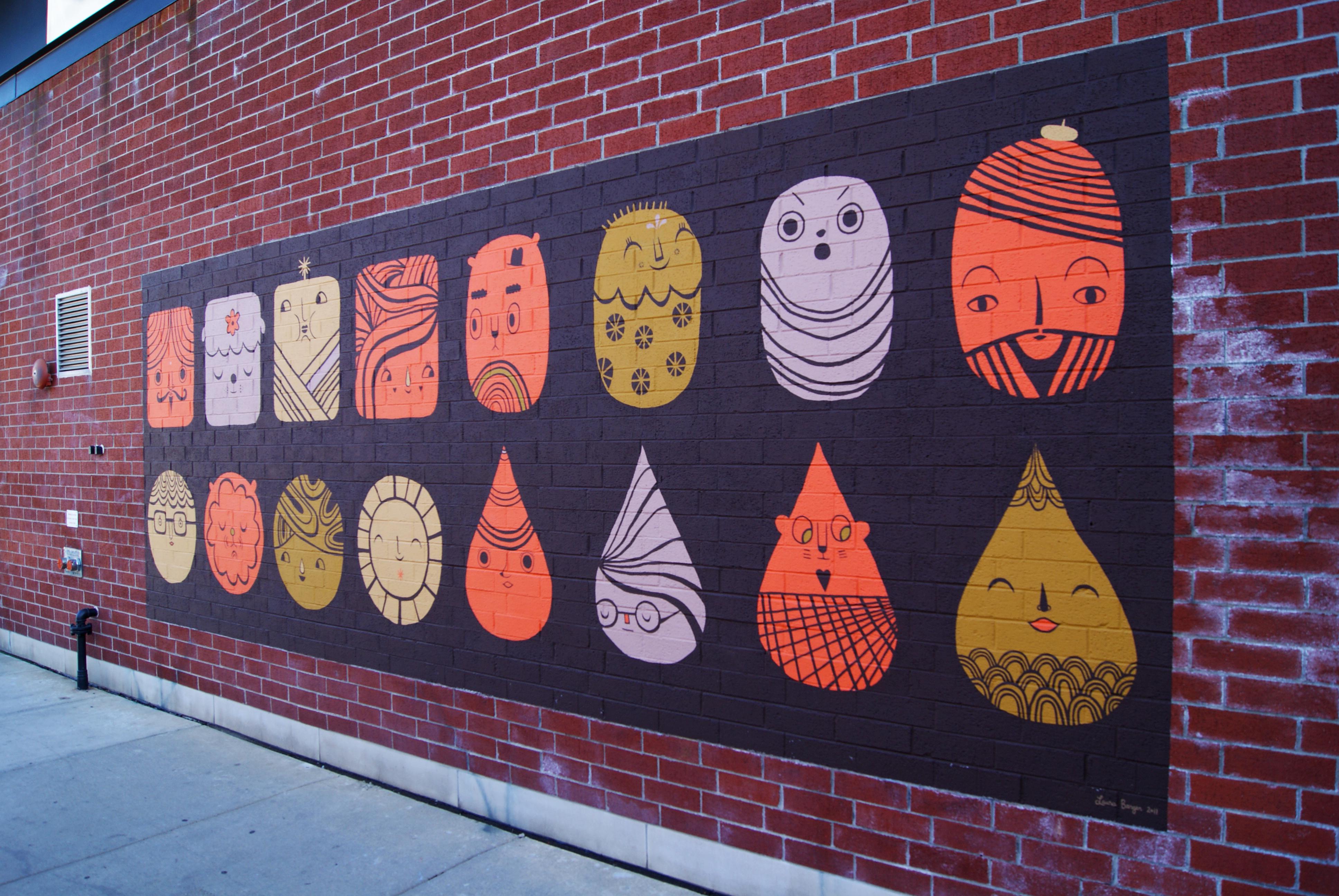 Orange Walls orange walls murals | wicker park bucktown chamber of commerce